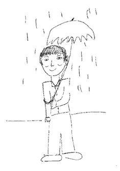 test del hombre o persona bajo la lluvia