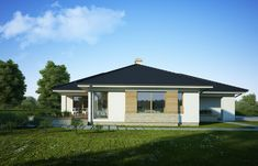DOM.PL™ - Projekt domu FA Julia CE - DOM GC5-64 - gotowy koszt budowy Home Fashion, Gazebo, House Plans, Garage Doors, Shed, Floor Plans, Outdoor Structures, Flooring, Mansions
