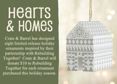buy a Christmas ornament, support Rebuilding Together!