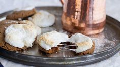 Gingersnaps are good, but gingersnaps stuffed with chocolate and topped with a marshmallow are DELICIOUS!