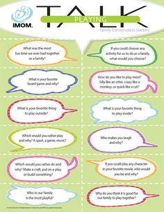 Playing Talk  #playtalk  http://imom.com/tools/conversation-starters/playing-talk/