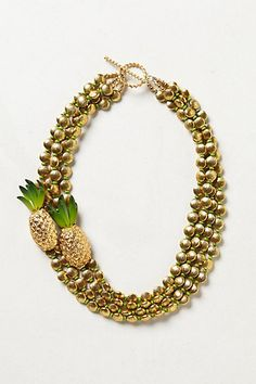 Pineapple Brooch necklace by Elva Fields, available at Anthropologie