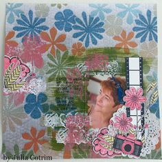 patterned papers and embellishments by Julia Cotrim