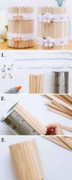 Tin Can Crafts, Easy Crafts, Wood Crafts, Diy And Crafts, Kids Crafts, Diy Wood, Pallet Crafts, Homemade Crafts, Creative Crafts
