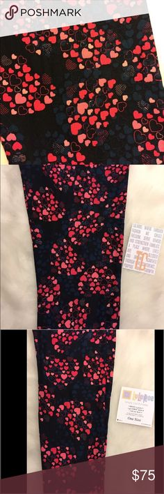 New Lularoe OS or TC Valentines Day Leggings heart Brand-New Lularoe Leggings! ~ YOU PICK SIZE  Size TC- TALL & CURVY~Fits 12-22. Size OS ONE SIZE~Fits 2-10  Brand New with tags ~ Amazingly Comfortable & Buttery Soft!  A Must~Have for any fashionable, romantic girl who LOVES Lula!   Fast Shipping!! Price firm. NO TRADES. LuLaRoe Pants Leggings