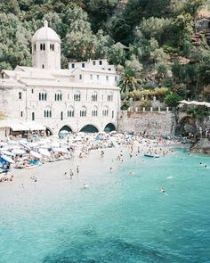 ☆ Follow us @popcherryau for more travel inspo ☆ san fruttuoso // italy // getaway // holiday // paradise // blue water // paradise