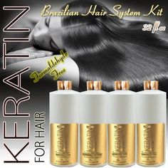 KERATIN FOR HAIR SMOOTHING BRAZILIAN KERATIN TREATMENT 4PC KIT 946ML / 32 FL OZ FORMALDEHYDE FREE * Want additional info? Click on the image.