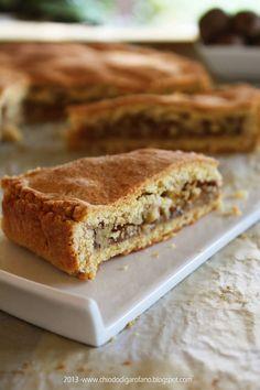 Crostata ripiena di miele e noci senza zucchero