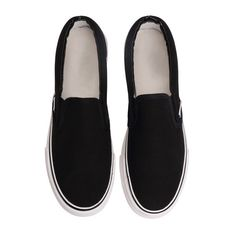 SheIn(sheinside) Black Thick-soled Casual Flats (33 CAD) ❤ liked on Polyvore featuring shoes, flats, clothes - shoes, canvas flats, flat heel shoes, round toe flats, thick shoes and kohl shoes