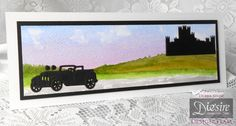 Debra Shaw - Downton Abbey Collection - Downton Abbey Motor Vehicle Die - Watercolour card - Matt Black card - Collall All Purpose & Tacky Glues - #crafterscompanion #DowntonAbbey