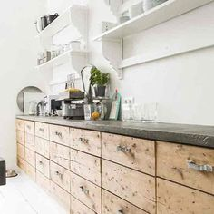 DIY Wooden Kitchen Cabinets - DIY projects & Ideas. From stylish paint projects to game-changing accessories, the H&G guide to refreshing your home on a budget - interiors on HOUSE by House & Garden