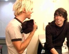 Taylor Hawkins and Dave Grohl