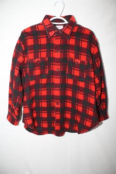 0a2f8854 Vintage 1970's/ 80's Champion Mackinaw/ Woodsman Plaid Shirt Jacket, Button  Up, Tuxedo