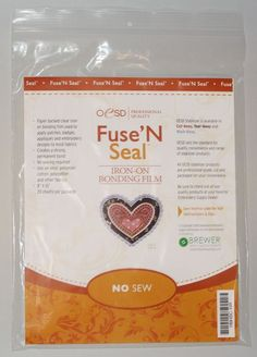 "Fuse & Seal Cut-Away      Fuse N Seal CutAway, 15"" x 5 yds  OESD  Use this clear iron on film to apply badges, patches, appliques and other emroidery, to most fabric without sewing. Excellent for adhering designs cut from one fabric to garment. Great for applying a pre-stitched design to shirts, towels, jackets, jeans, ties, etc. Creates a very strong, permanent bond when heat is applied. Withstands repeated washings."