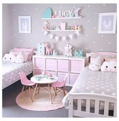 Cute Teen Bedrooms, Small Girls Bedrooms, Little Girl Rooms, Small Rooms, Small Space, Kids Rooms, Childrens Bedrooms Girls, Shared Bedrooms, Room Kids