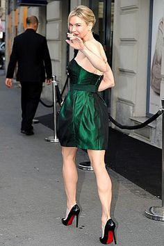 Renee Zellweger hot toned legs in high heels