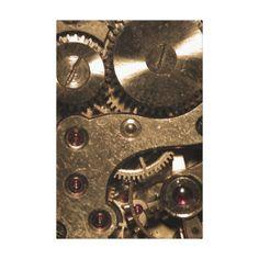 Steampunk Gears Art & Framed Artwork   Zazzle