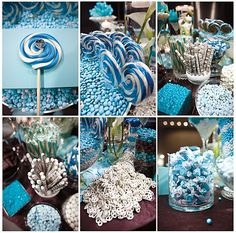 Blue dessert buffet, candy buffet