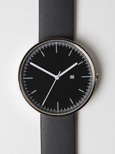 Uniform Wares 200 Series 202/PL-01 Calendar Wrist Watch in grey / black at oki-ni