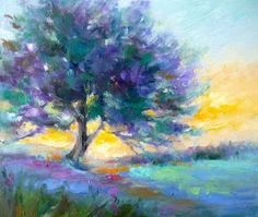 Fields of Provence ~ Painting A Day: Small Masterpieces by Tina Wassel Keck ©