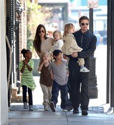Angelina Jolie and her family