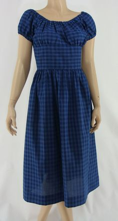 Vintage Sixties Gingham Dress 1960s Summer by JanetandJaneVintage