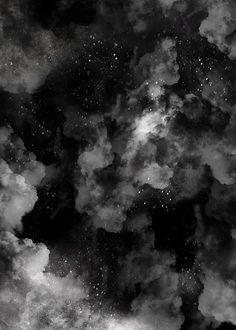 Black White Abstract Smoke Background