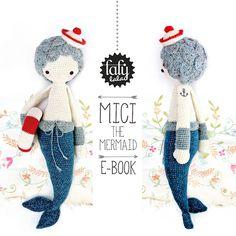"""HÄKELANLEITUNG Puppe """"MICI die Meerjungfrau"""" PDF von lalylala - handmade auf DaWanda.com"""