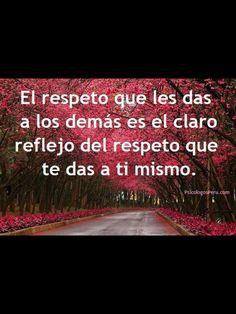 El respeto....
