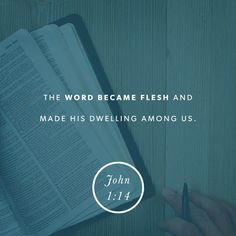 So the Word became human and made his home among us. He was full of unfailing love and faithfulness. And we have seen his glory, the glory of the Father's one and only Son. ‭‭John‬ ‭1:14‬‬
