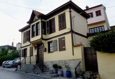 Macedonia, traditional macedonian architecture of Greece upper town, Thessaloniki, Macedonia, Greece