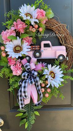 Dyi Crafts, Wreath Crafts, Diy Wreath, Grapevine Wreath, Wreath Ideas, Hydrangea Wreath, Sunflower Wreaths, Floral Wreaths, Fall Wreaths