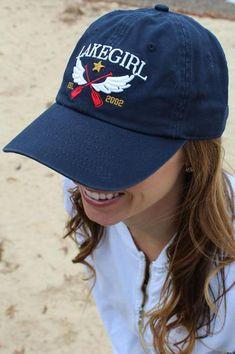 44b9e7f864f7 Lakegirl Winged Paddles cap, 100% cotton twill adjustable women's cap. # lakegirl #
