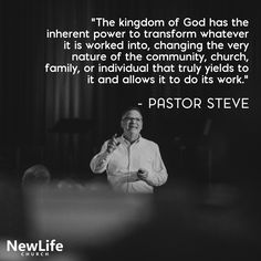 """""""The kingdom of God has the inherent power to transform whatever it is worked into, changing the very nature of the community, church, family, or individual that truly yields to it and allows it to do its work."""" - Pastor Steve  Pastor Steve's message, """"Kingdom Culture: Like Sourdough"""" will be available for rewatch today. Stay tuned: www.newlifenc.com/live-stream  #SundayRecap #NewLifeNC #KingdomCulture www.newlifenc.com"""