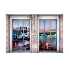 Brewster XXL4-017 Loft Wall Mural Loft Home Decor Murals (14.190 RUB) ❤ liked on Polyvore featuring home, home decor, wall art, loft, murals, wallpaper, brewster home fashions, colorful home decor, mounted wall art and interior wall decor
