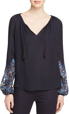 1d0ce7486eb49 Image result for cross over silk blouses