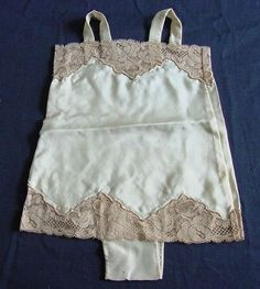 French Alencon Lace & Silk 1920's All-In-Ones.