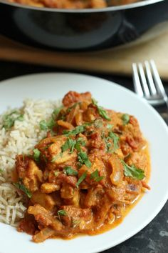 Beautifully quick Weeknight Tikka Masala from @amuseyourbouche using Quorn Chik'n Tenders