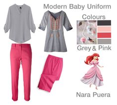 """Modern Baby Uniform (Grey&Pink)"" by narminq on Polyvore featuring Alberto Biani, Blair, Mountain Khakis and modern"
