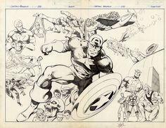 Capitán América por John Byrne (página perteneciente al Captain America #255).