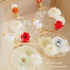 Pin by shimizusou on Craft Diy Resin Crafts, Jewelry Crafts, Diy And Crafts, Handmade Jewelry, Resin Jewelry Making, Resin Tutorial, Kawaii Accessories, Diy Crystals, Resin Charms
