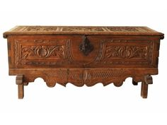 ANTIQUE CARVED CHEST - GREAT AS COFFEE TABLE Item #: 53353 $850.00