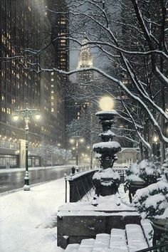 Beautiful winter city scenery