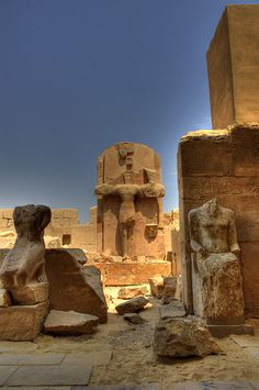 Karnak Temple  Luxor, Egypt Dr John Ward KT is working out there at the moment