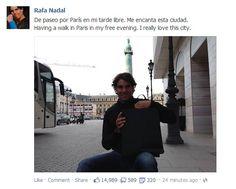 rafael nadal facebook | Rafael Nadal's Facebook May 29 2013