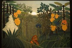 The Repast of the Lion, Henri Rousseau (le Douanier) (Laval Paris), ca Oil on canvas. The Metropolitan Museum of Art, NY. Henri Rousseau, Oil On Canvas, Canvas Prints, Art Prints, Metropolitan Museum, Jungle Pictures, Lion Art, Post Impressionism, Art Moderne