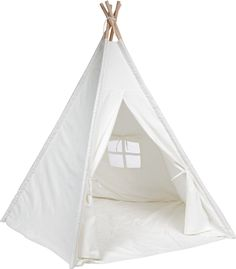 Kids Teepee Tent with Padded Mat & Light String& Carry Case- Kids Foldable Play Tent for Indoor Outdoor, Raw White Canvas Teepee - Kids Playhouse - Portable Kids Tent Indoor Playhouse, Build A Playhouse, Outdoor Playhouses, Canvas Teepee, Canvas Fabric, Cotton Canvas, Kids Teepee Tent, Play Tents, Teepees