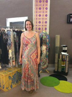 Dani is looking amazing in this beautiful Johnny Was dress. Perfect for so many functions. Great colors for the Summer