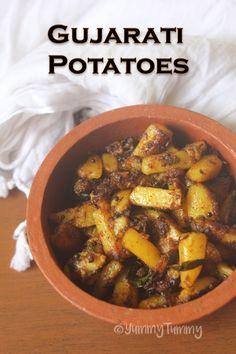 Batata Nu Shaak Recipe - Gujarati Potato Sabzi Recipe - The Best Vegetarian Recipes Methi Recipes, Gujarati Recipes, Curry Recipes, Vegetable Recipes, Chicken Recipes, Indian Potato Recipes, Indian Food Recipes, Indian Vegetarian Recipes, Gujarati Cuisine