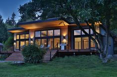 David Price Projects is a Whidbey Island building design and planning firm. Lake House Plans, Cottage Floor Plans, Mountain House Plans, New House Plans, Modern Lake House, Modern Mountain Home, Facade House, House Roof, Dock House